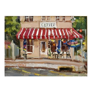 "Judy Crowe ""Stop for Coffee-New Braunfels"" Oil Painting For Sale"