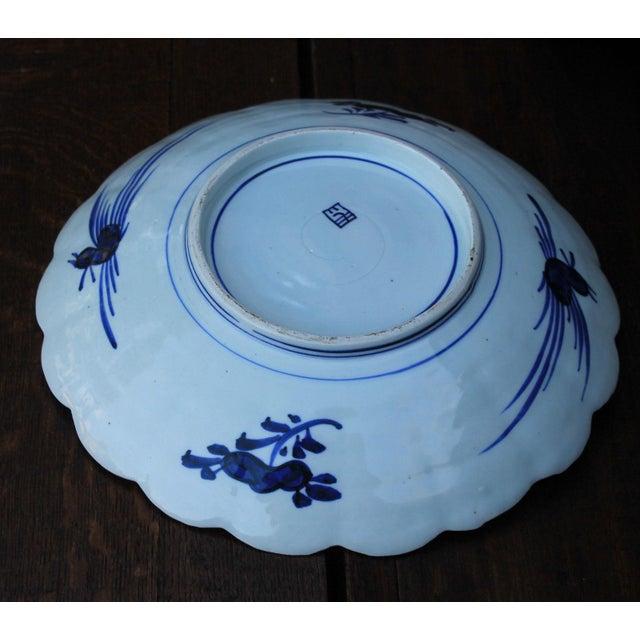 Imari Porcelain Antique 19th Century Imari Bowl Serving Dish Plate Charger Japan For Sale - Image 4 of 12