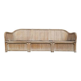 Henry Link Split Reed Bamboo Sofa For Sale