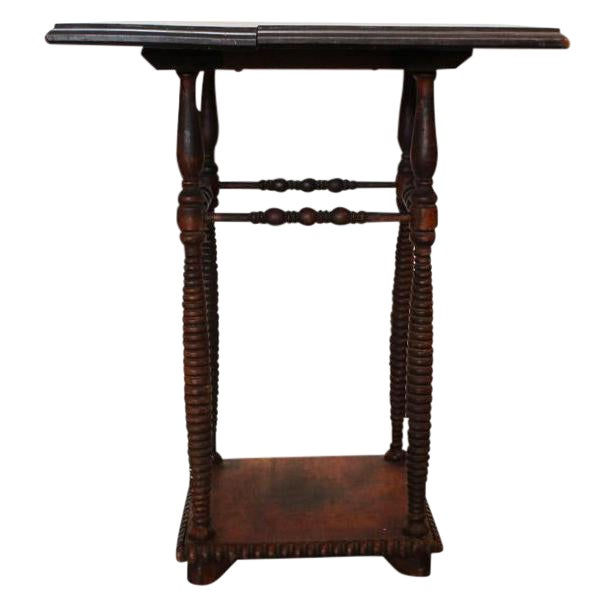 Antique Spindle Leg Side Table For Sale