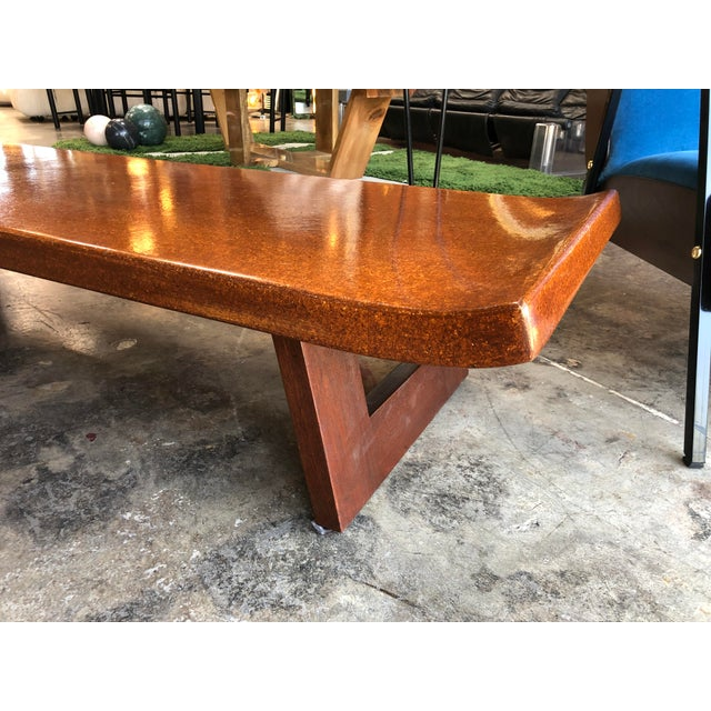 Mid-Century Modern Hardwood Bench For Sale In Los Angeles - Image 6 of 9