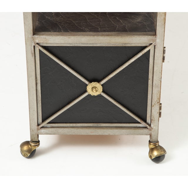 Maison Jansen Brass and Steel Console For Sale - Image 4 of 13