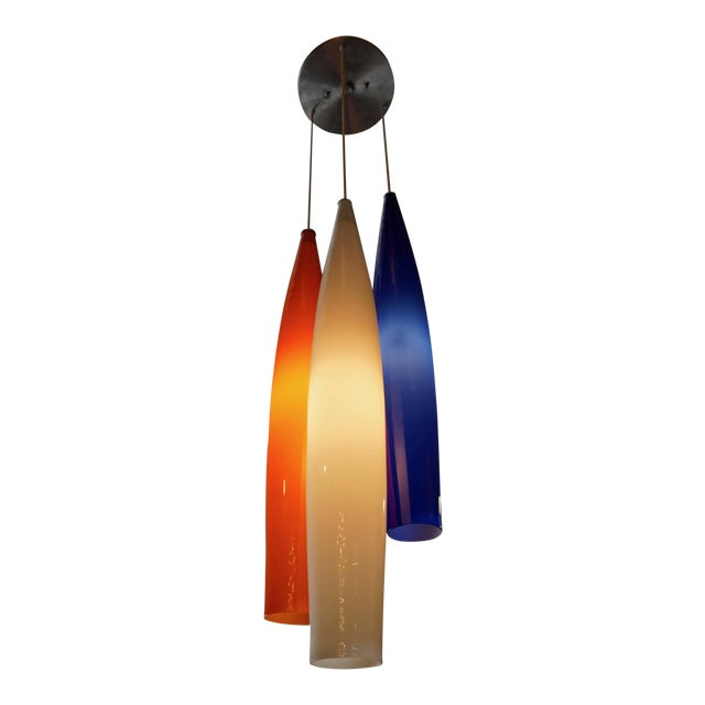 Glass Pendant Lamp by Vistosi For Sale