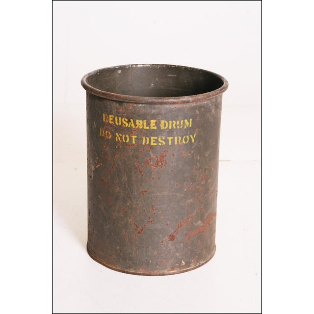 Vintage Industrial Green Metal Military Can - Image 7 of 11