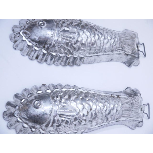 Cottage 1960s Tinned Steel Fish Molds - a Pair For Sale - Image 3 of 5