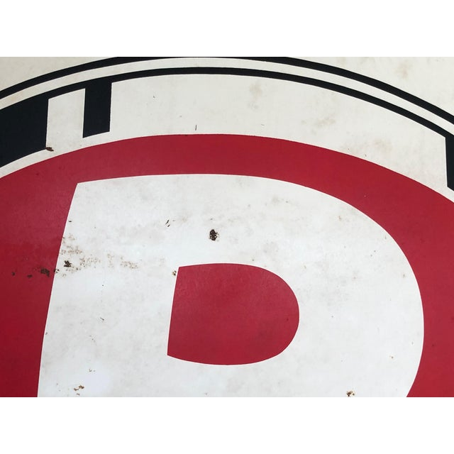 1940s Vintage P Paint Bucket Sign For Sale - Image 5 of 6