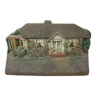 Vintage Judd Painted Cast Iron House Doorstop For Sale