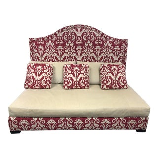 Lee Industries Custom Red Ikat Day Bed