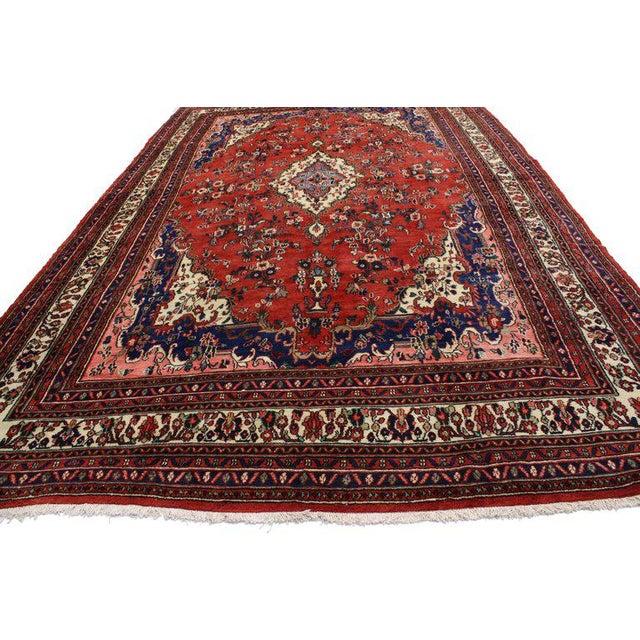 Textile Vintage Kabudarahang Hamadan Persian Palace Rug - 10′6″ × 17′2″ For Sale - Image 7 of 8