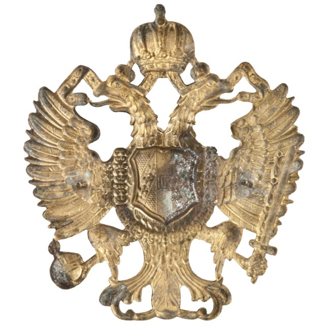 Vintage French Brass Military Badge - Image 2 of 2
