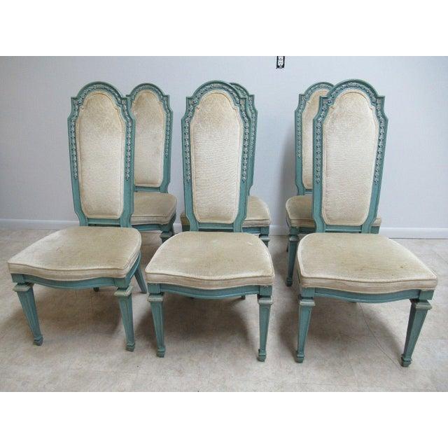 Vintage Baker Furniture French Regency Dining Side Chairs - Set of 6 For Sale - Image 11 of 11