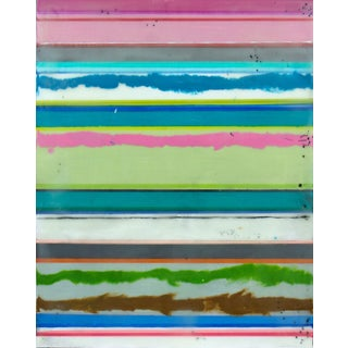 "Original Encaustic Stripes Painting ""Confections No. 36"" by Gina Cochran"