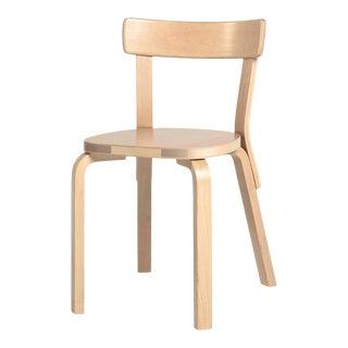 Authentic Chair 69 in Birch by Alvar Aalto & Artek For Sale