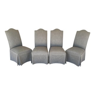 Ethan Allen Parsons Skirted Side Chairs - Set of 4 For Sale
