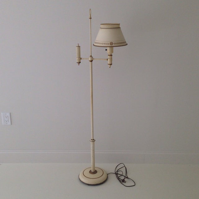 Off-White Tole Floor Lamp - Image 3 of 11