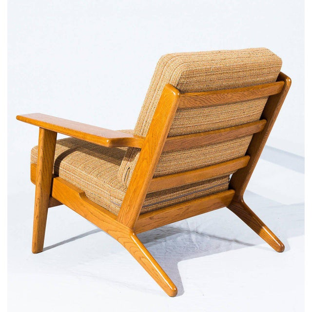 1950s Pair of Hans Wegner GE-290 Lounge Chairs For Sale - Image 5 of 10