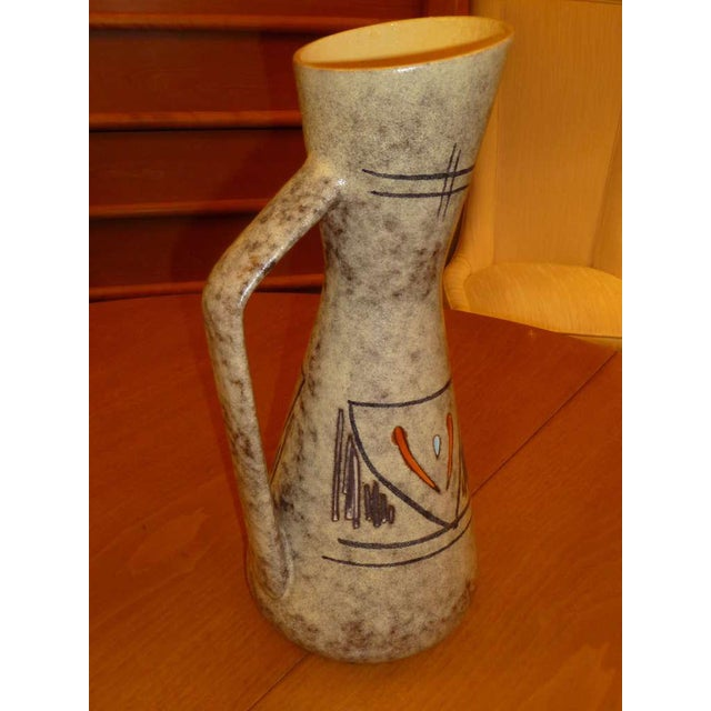 Tall 50s German Ewer Form Vase by Scheurich - Image 4 of 9