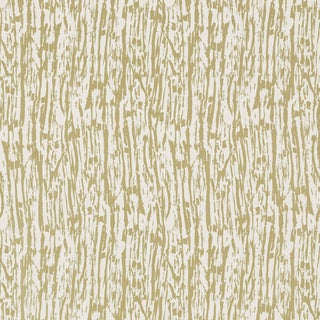 Sample - Schumacher Tree Texture Wallpaper in Pale Gold For Sale