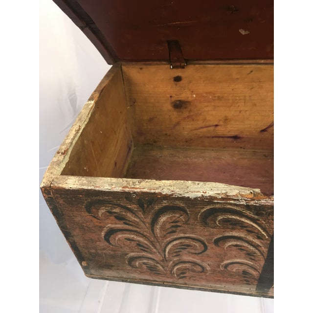 Late 18th Century Antique Norwegian Folk Art Box For Sale - Image 11 of 12