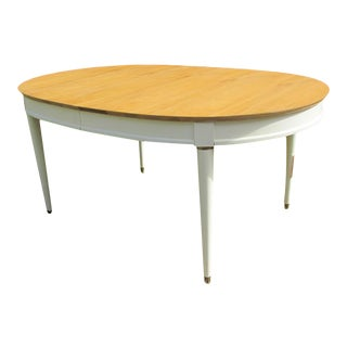 Oval Cherry Mid Century Dining Table For Sale