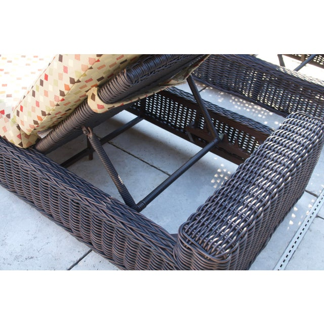 Summer Classics- Rustic Woven Chaise Lounge and Cushion For Sale - Image 11 of 13