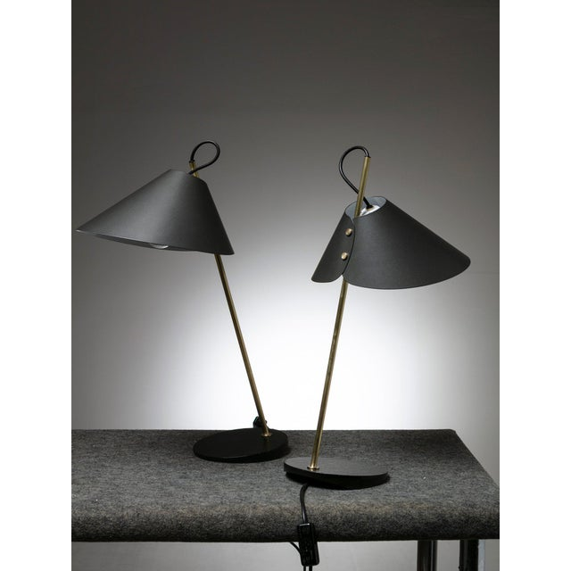 """Pair of """"Base Ghisa"""" Table Lamps by Caccia Dominioni for Azucena For Sale - Image 9 of 9"""