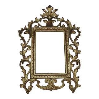 19th Century Antique French Rococo Style Picture Frame For Sale