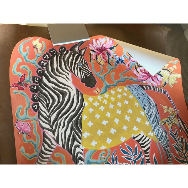 Florida artist Paige Gemmel created this gorgeous print! Excellent quality. I ordered the wrong size (36 x 36) and paid...