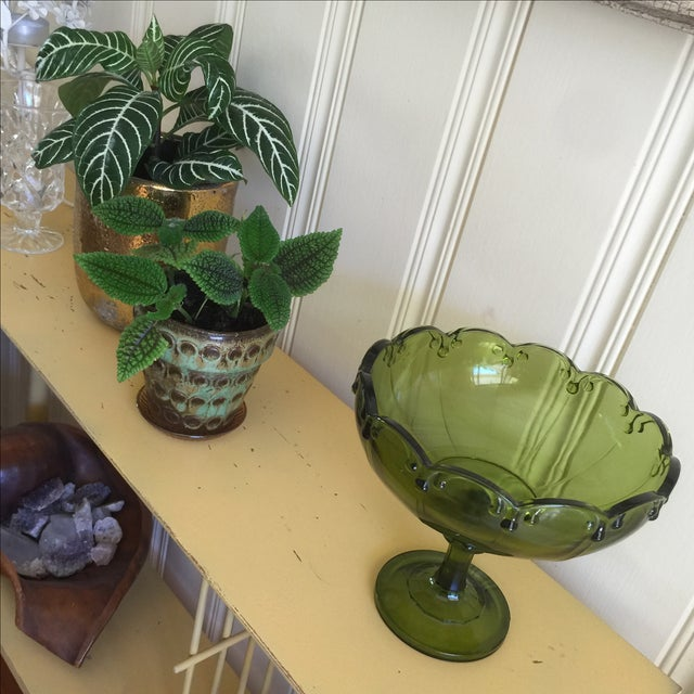 Vintage Green Glass Bowl - Image 9 of 9