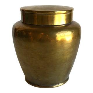 Vintage Brass Jar