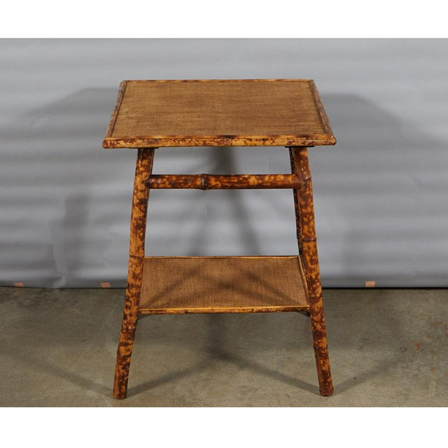 Tiger Bamboo Side Table For Sale - Image 4 of 6