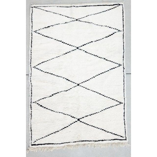Vintage Moroccan Beni Rug 7'9 x 5'25 - Image 8 of 8
