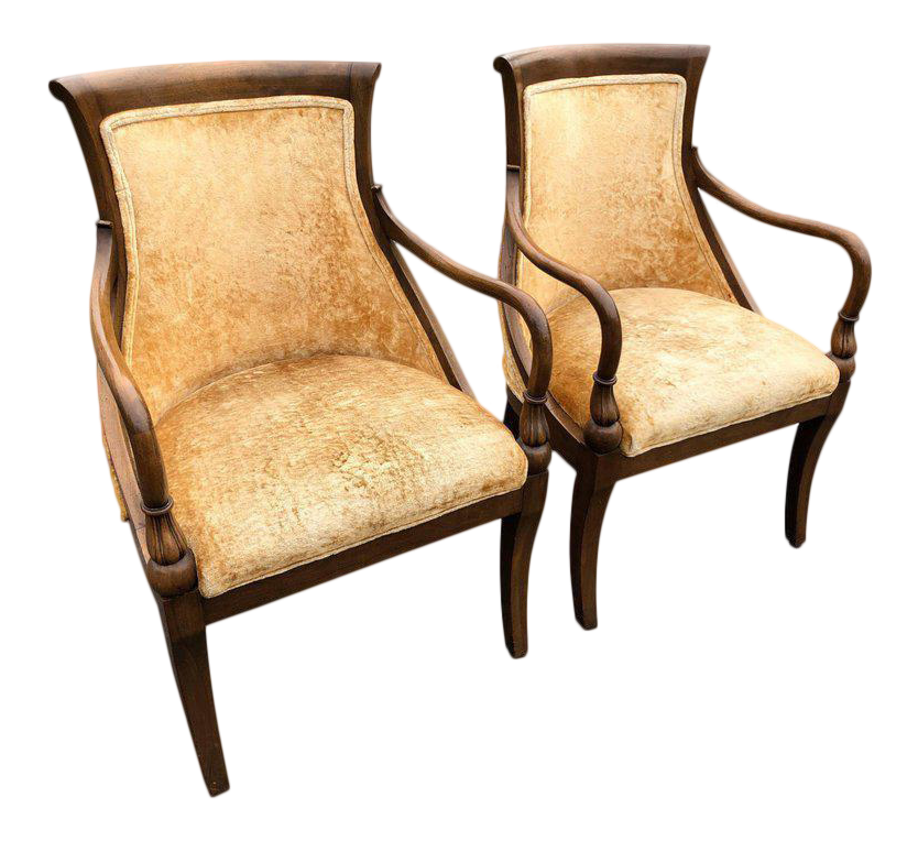 French Style Armchairs   A Pair