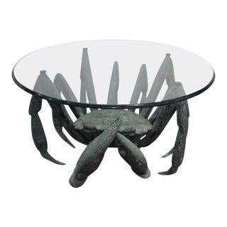 Bronze Crab-Form Sculpture Cocktail Table