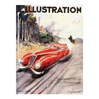 Matted Vintage Automobile Print by Geo Ham For Sale