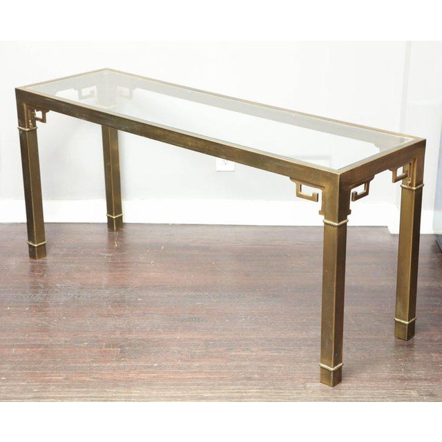 Vintage Mastercraft Brass Console For Sale In New York - Image 6 of 6