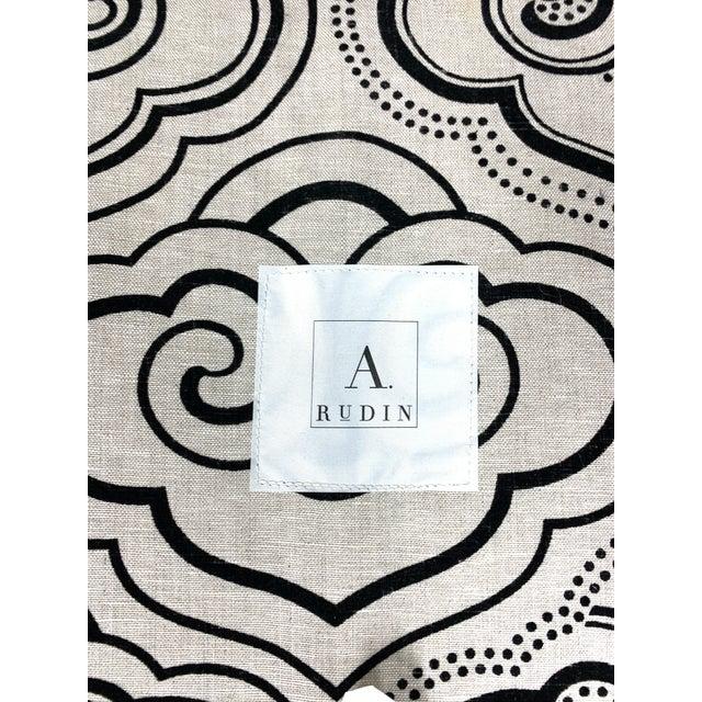 Black A. Rudin Osborne & Little Fabric Custom #2612 Sofa For Sale - Image 8 of 12