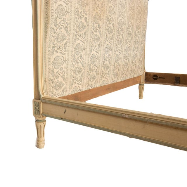 1940s 1940s French Louis XVI Style Full Size Painted Bedframe For Sale - Image 5 of 7