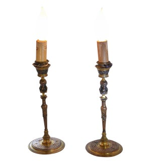 Small Bronze Barbedienne Lamps For Sale