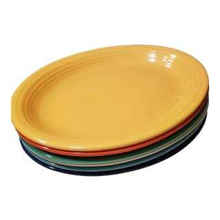 Set of 6 -Pristine Vintage 1930s Fiesta Oval Platters For Sale