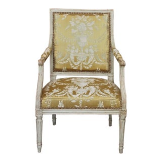 18th Century Painted Louis XVI Armchair