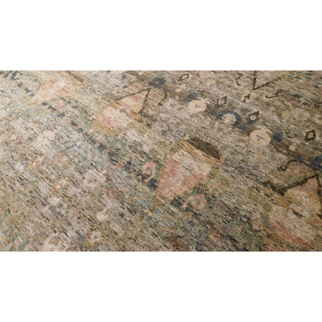 """Transitional Hand-Knotted Luxury Rug - 8'11"""" x 12' - Image 5 of 6"""