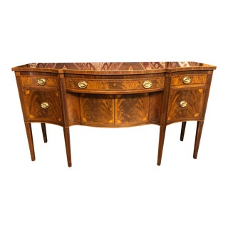 1930s Schmieg and Kotzian Hepplewhite Style Inlaid Sideboard For Sale