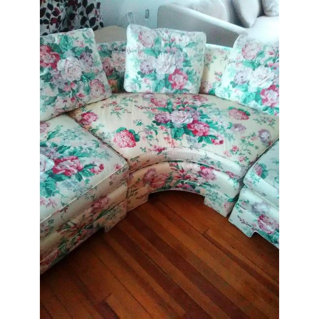 Vintage Ethan Allen Curved Sectional Sofa - Image 5 of 8