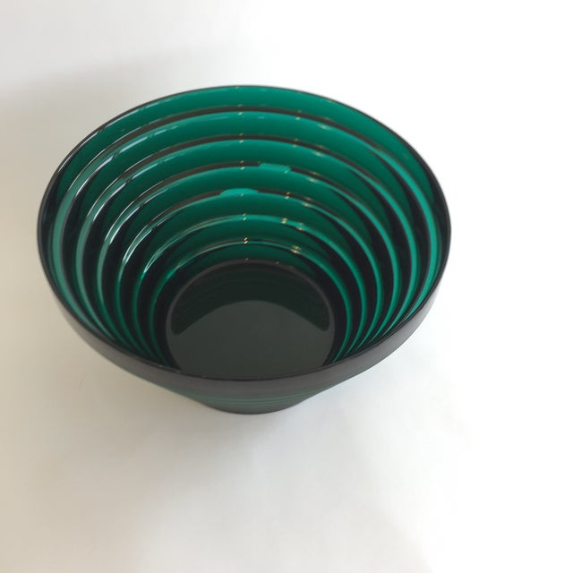Mid-Century Modern Aino Aalto for Iittala Green Glass Bowl For Sale - Image 3 of 5
