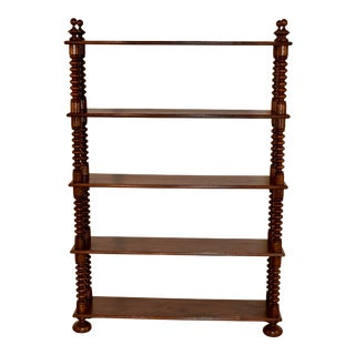 19th Century French Walnut Shelf For Sale