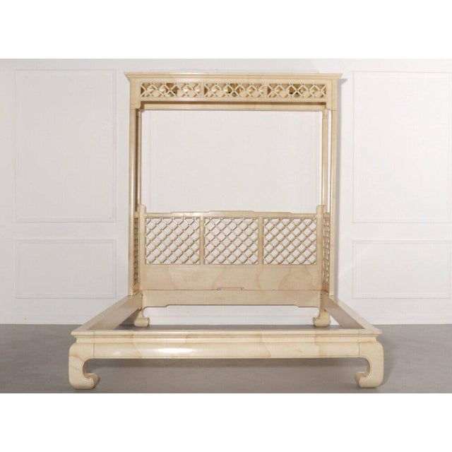 Henredon Lattice Canopy Bed For Sale - Image 13 of 13
