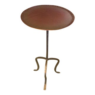 Contemporary Bronze Fork Round Drink Table