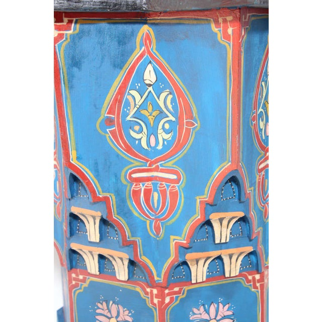 Moorish Star Shape Blue Side tables - A Pair For Sale - Image 4 of 13