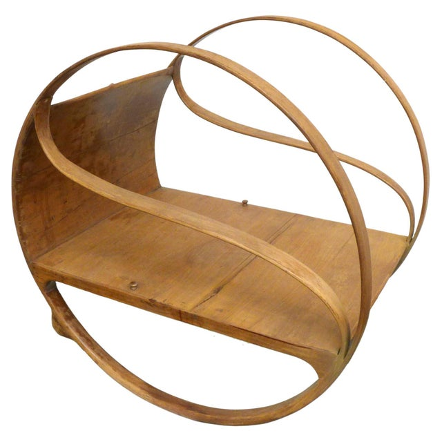 An incredible and unusual Art Nouveau bent sandalwood rocker. A beautifully-built, elegant and highly-unexpected...